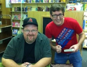 Me and Kevin Hearne at Park Road Books